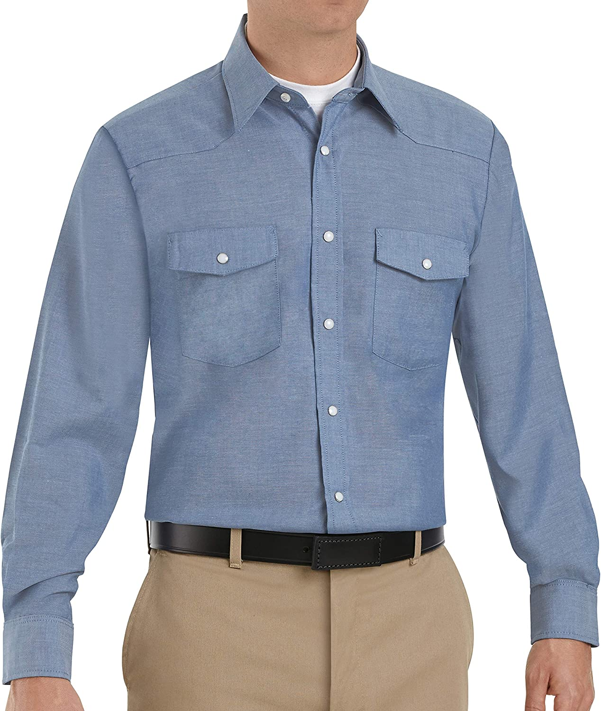 Red Kap Men's DeluxeWestern Long Sleeve Style Shirt