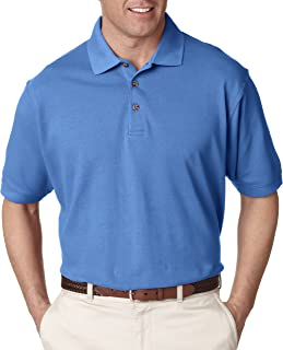 UltraClub Men's Relaxed Fit Taped Neck Classic Pique Polo Shirt