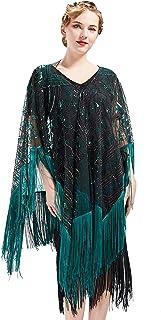 ArtiDeco 1920s Retro Schal Damen Umschlagtücher Stola für Abendkleid Hochzeit Party Braut Schal Gatsby Kostüm Accessoires