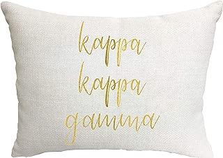 Kappa Kappa Gamma Sorority Throw Pillow