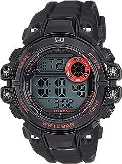 Q&Q Men's Grey Dial Silicone Band Watch - M151J001Y, Digital Display