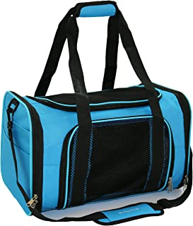 Mr. Peanut's Airline Approved Soft Sided Pet Carrier, 17.5X11X11 Travel Tote with Soft Padded Bedding with Strong 1/4