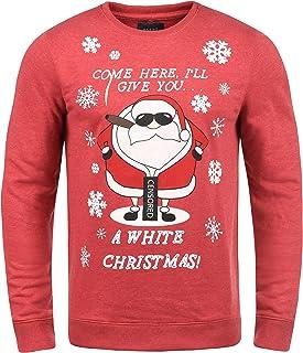 5fcfd7ec7 Blend Santa Sudadera Navideña Suéter Jersey Estilo Navidad para Hombre con  Cuello Redondo