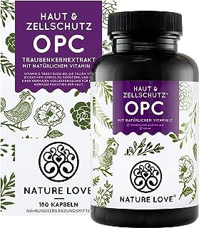 NATURE LOVE OPC Traubenkernextrakt - Aus französischen Trauben UND Extraktion in Frankreich - 800mg Extrakt je Tagesdosis - Laborgeprüft, vegan, in Deutschland produziert