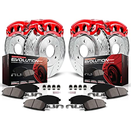 Power Stop K5532 Front Z23 Evolution Brake Kit with Drilled//Slotted Rotors and Ceramic Brake Pads
