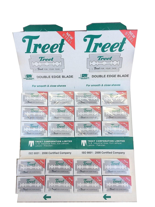 Treet New Steel 両刃替刃 200枚入り(10枚入り20 個セット)【並行輸入品】