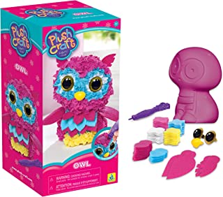 The Orb Factory PlushCraft Colorful Owl 3D Soft Craft