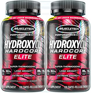 Hydroxycut Hardcore Elite Weight Loss Supplement, Designed for Hardcore Weight Loss,..