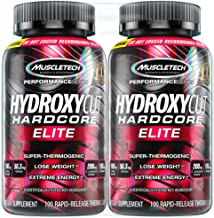 Hydroxycut Hardcore Elite Weight Loss Supplement, Designed for Hardcore Weight Loss, Energy & Enhanced Focus, 100 Servings...