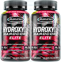 Hydroxycut Hardcore Elite Weight Loss Supplement, Designed for Hardcore Weight Loss, Energy & Enhanced Focus, 100 Servings (200 Pills)
