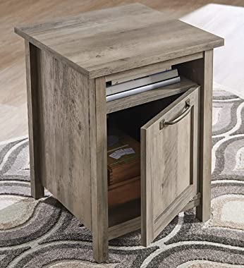 Better Homes & Gardens Modern Farmhouse End Table Nightstand with USB