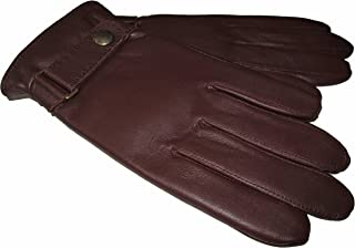 Polo Ralph Lauren Mens Leather Snap Buckle Winter Gloves