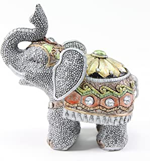 "Feng Shui 5""(H) Elephant Wealth Lucky Figurine Home Decor Housewarming Gift US Seller"