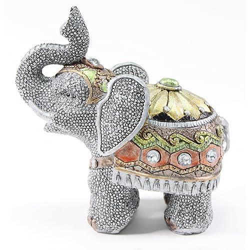 Feng Shui 5H Elephant Wealth Lucky Figurine Home Decor Housewarming Gift US