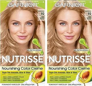 Garnier Nutrisse Nourishing Permanent Hair Color Cream, 101 Light Buttery Blonde (2 Count) Blonde Hair Dye