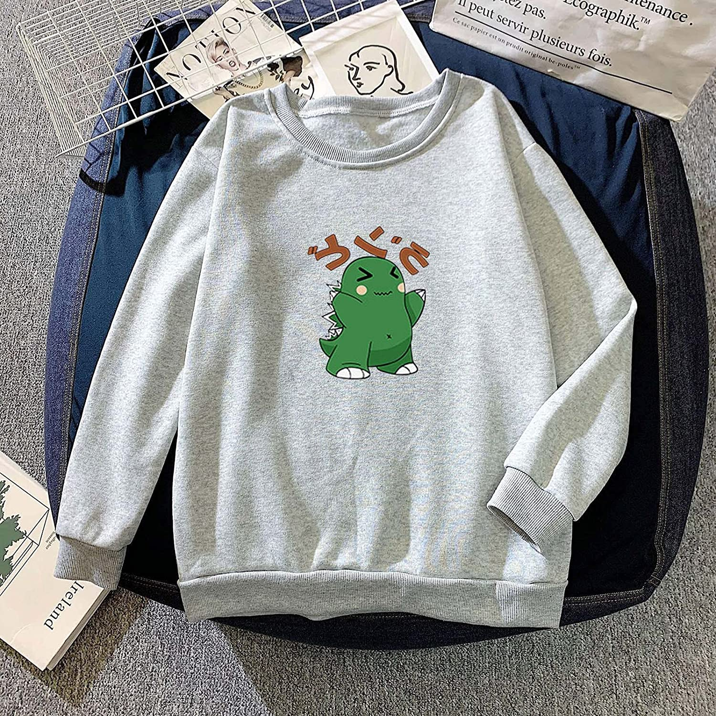 Fudule Graphic Crewneck Sweatshirts for Women,Cute Dinosaur Sweatshirts Lightweight Long Sleeve Tee Shirts Trendy Hoodie