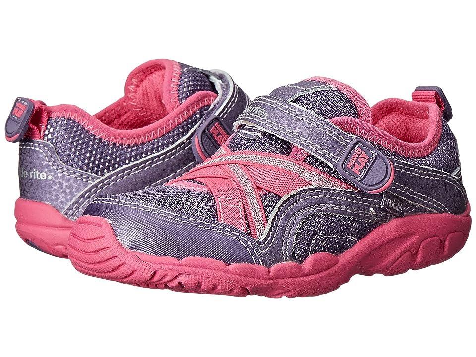 Stride Rite Made 2 Play Baby Serena (Toddler) (Grey/Pink) Girls Shoes
