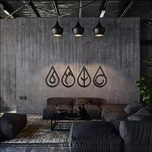 Bekata Four Elements, Metal Wall Art Metal Wall Decoration Home Office Living Room Bedroom