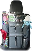 FinWings Envoy Light Interior Gray, Heavy Duty Seat Back Car Organizer Storage, 12 Compartments, 4 Cup Bottle Holder Pockets (24.5 x 17.5 in, Dark Slate Blue Gray)