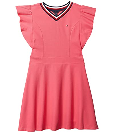 Tommy Hilfiger Kids Tommy Ruffle Dress (Big Kids) (Surprise Pink) Girl