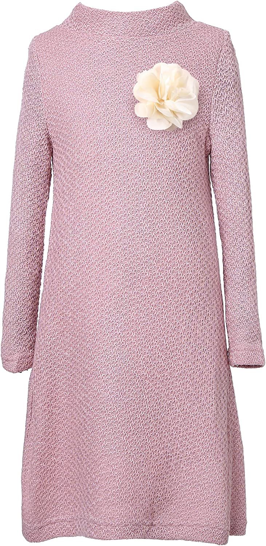 Richie House Big Girls' Medium Winter Dress with Flower Rh2255 Size 3-10