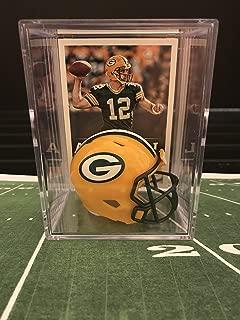 Green Bay Packers NFL Helmet Shadowbox w/ Aaron Rodgers card