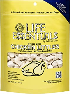 LIFE ESSENTIALS BY CAT-MAN-DOO Freeze Dried Chicken Little's for Dogs & Cats -5 oz