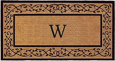 "Calloway Mills AZ120073672W Augusta Monogram Doormat, 36"" x 72"", (Letter W)"