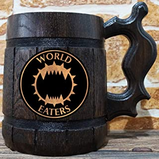 World Eaters Beer Mug, Warhammer Wooden Beer Stein, Chaos Space Marines Gamer Gift, Personalized Beer Stein, Warhammer 40K Tankard, Custom Gift for Men, Gift for Him