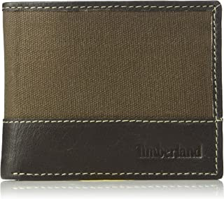 Timberland Men's Canvas and Leather Billfold Gift Set