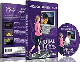 Virtual Walks - Gardens at Night for indoor walking, treadmill and cycling workouts
