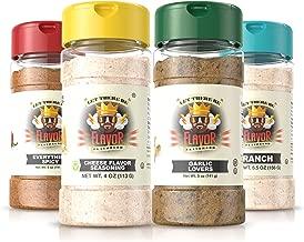#1 Best-Selling 5oz. Flavor God Seasonings - Gluten Free, Low Sodium, Paleo, Vegan, No MSG (Popcorn Pack, 4 Bottles) …