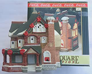 COCA-COLA Coke Town Square Collection DEW DROP INN Limited Edition LIGHTED HOLIDAY VILLAGE Collectible (Dated June 1997)