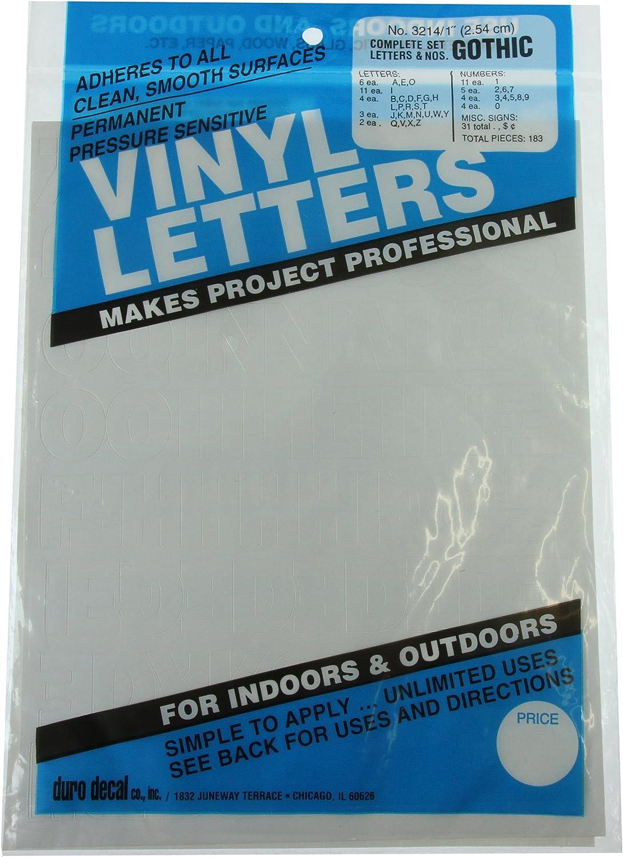 Chartpak 1-1//2-inch White Stick-on Vinyl Letters 3 PACKS 01046