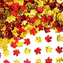 Fall Party Table Scatter Confetti - Thanksgiving Day Maple Leaves Foil Metallic Sequins Confetti Autumn Carnival Party Spr...