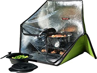 Sunflair Portable Solar Oven Deluxe with Complete Cookware, Dehydrating Racks, and Thermometer - Great for Camping, Outdoor Activities