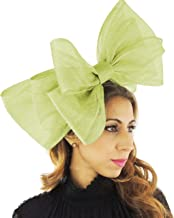 Large 20 Inch Cliverina Sinamay Bow Ascot Fascinator Hat - with Headband