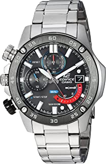 Casio Men's Edifice Quartz Watch with Stainless-Steel Strap, Silver, 20.5 (Model: EFR-558DB-1AVCF)