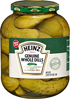 Heinz Genuine Whole Dill Pickles, 46 fl oz Jar