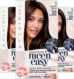 Sponsored Ad - Clairol Nice'n Easy Permanent Hair Color, 3 Brown Black, Pack of 3