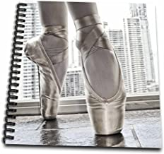 """3dRose db_219708_1 Ballerina in Pointe Shoes with Buildings Behind Drawing Book, 8 by 8"""""""