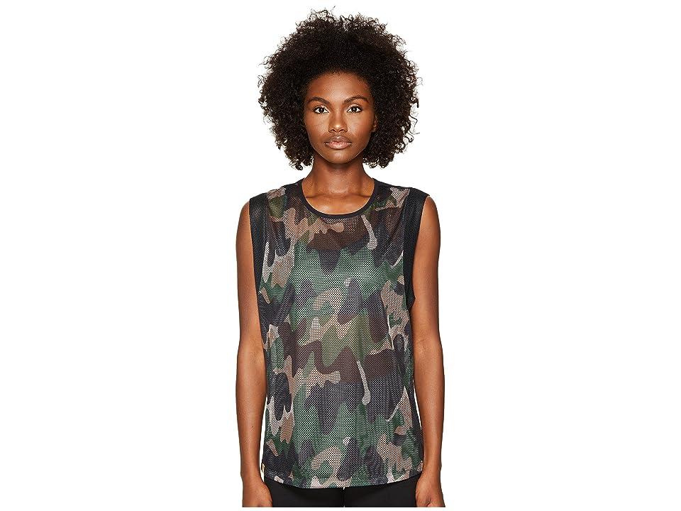 Monreal London Workout Top (Moss Camouflage) Women