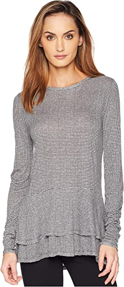 Mini Tweed Double Hem Top