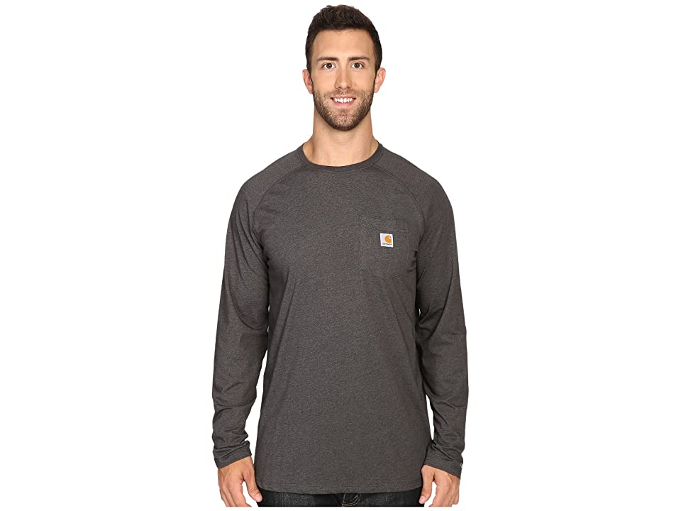 Carhartt Big Tall Force Cotton L/S Tee (Carbon Heather) Men's T Shirt