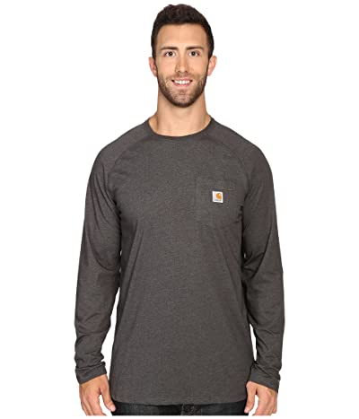 Carhartt Big Tall Force Cotton L/S Tee (Carbon Heather) Men
