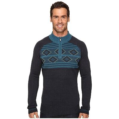 Ecoths Zane Sweater (Heathered Dark Navy) Men