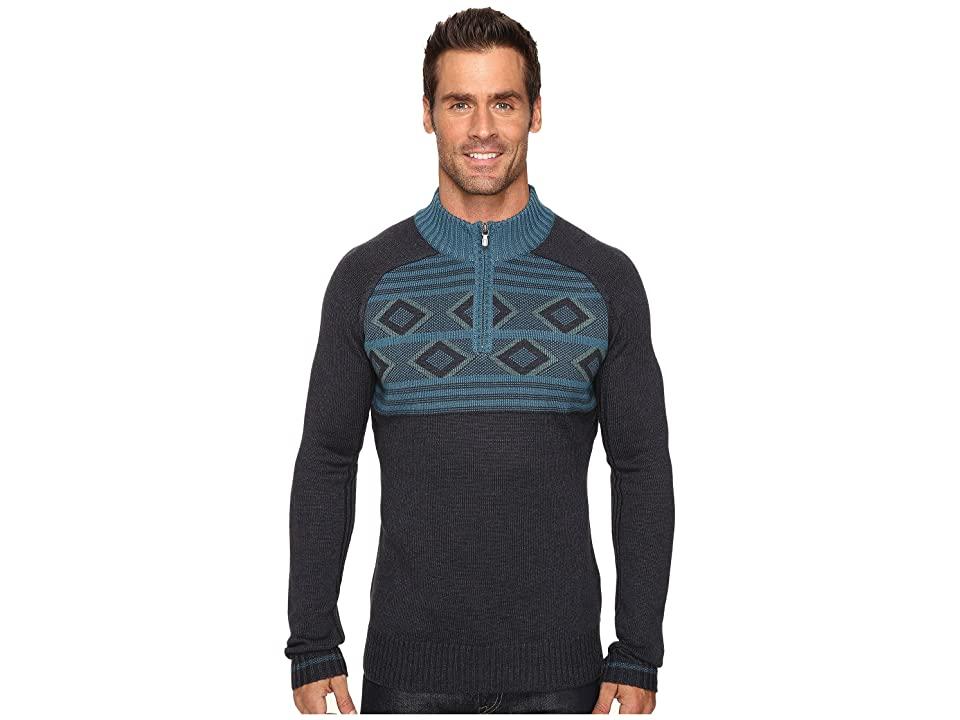 Ecoths Zane Sweater (Heathered Dark Navy) Men