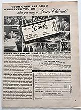 1957 Diners Club Magazine Print Advertisement
