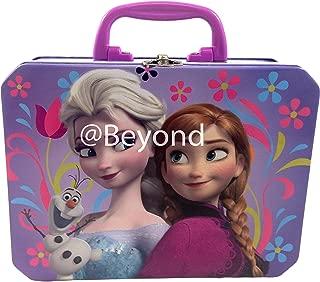 Disney Frozen Princess Elsa Anna & Olaf Deluxe Large Purple Tin Lunch Box