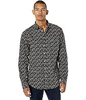 Printed Button-Up Shirt